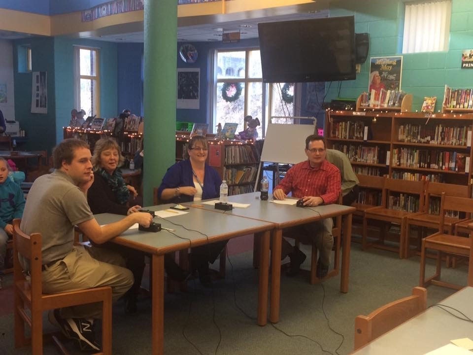 Teachers versed the students during a competitive round of quick recall!  The teachers won!