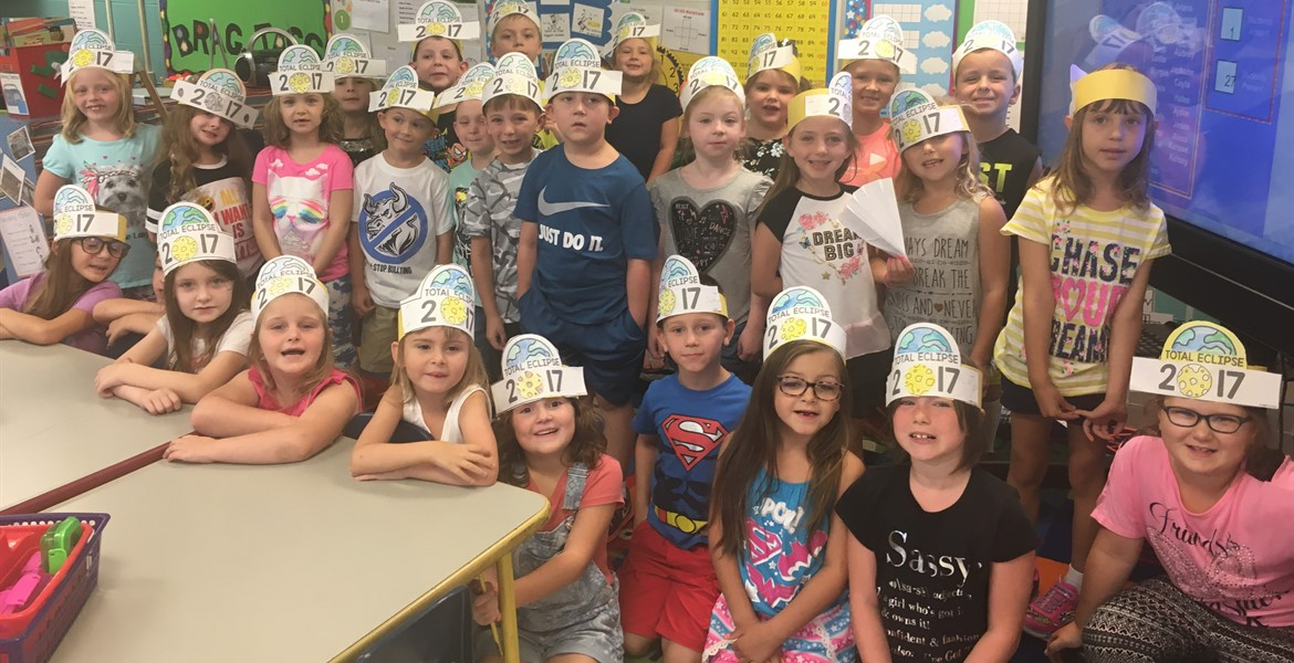 1st grade is ready for the solar eclipse!
