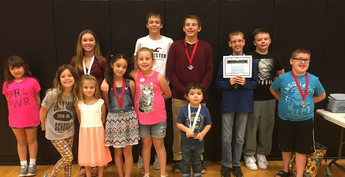 Vincent, Jackson, Hannah, Amanda, Donovan, and Gatlin all placed at the District Science Fair!