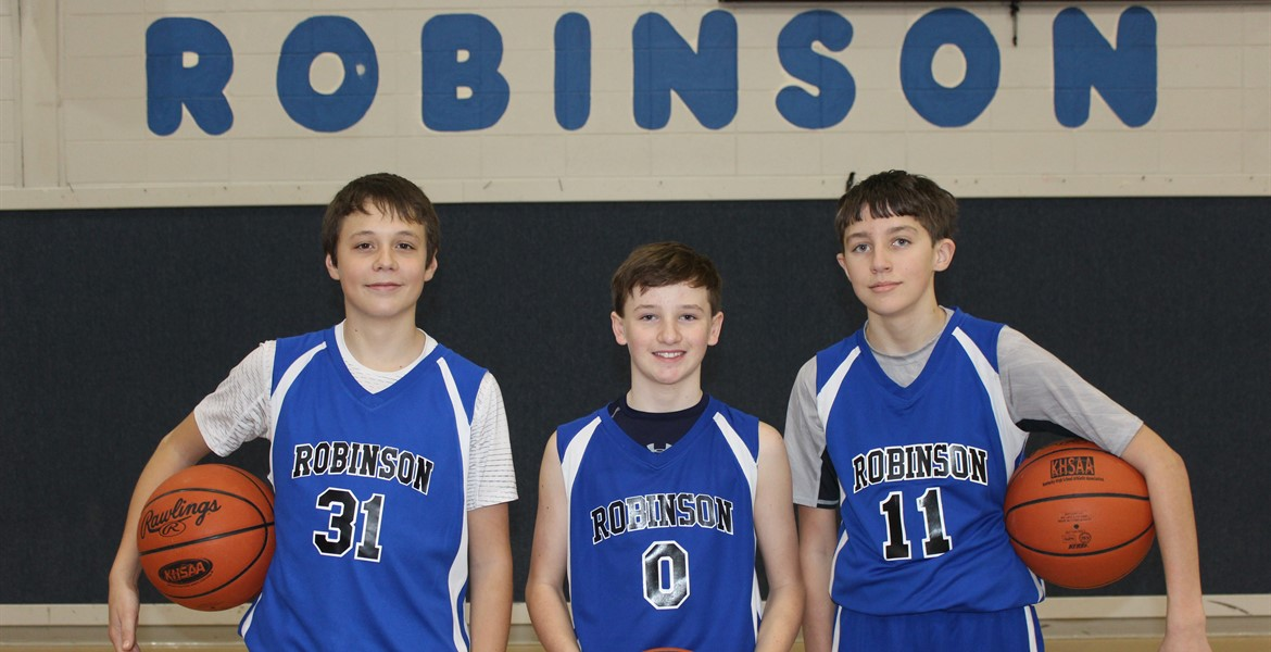 8th Grade Boys Basketball Players - Hatch, Travis, and Dylan