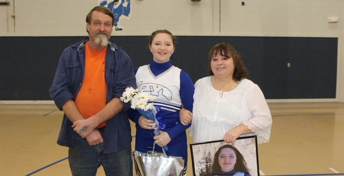 8th Grade Night - Josie and Family