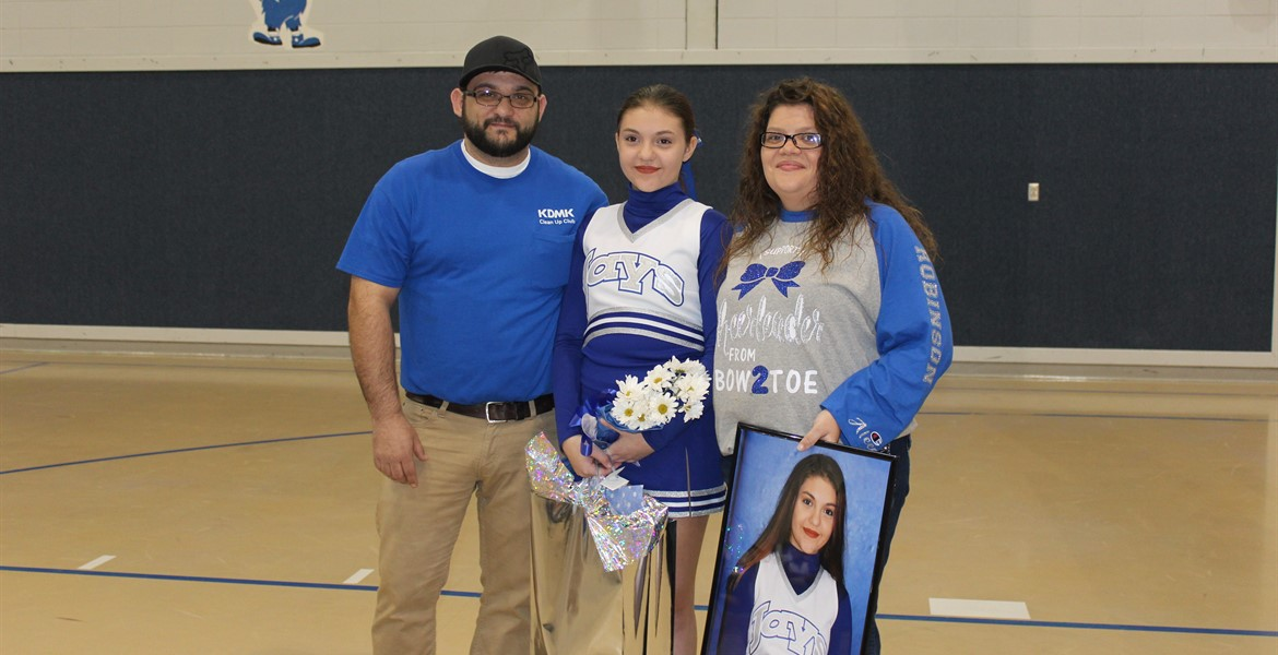 8th Grade Night - Emmalee and Family