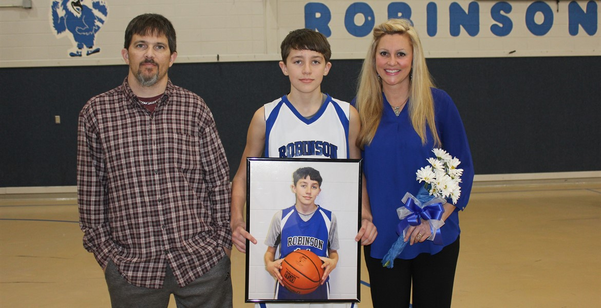 8th Grade Night - Dylan and Family