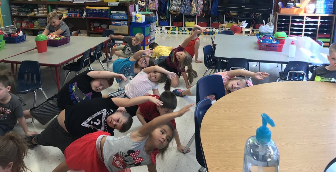 First graders do yoga, too!